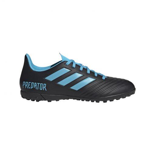 Adidas kunstgras voetbalschoen Predator 19.4 TF - CBLACK/BRCYAN/SYE CBLACK/BRCYA
