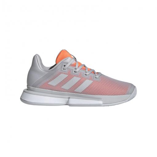 Adidas dames gravelschoen Solematch Bounce W Clay - Grijs
