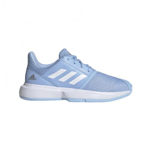 Adidas junior gravelschoenen Courtjam XJ - Blauw