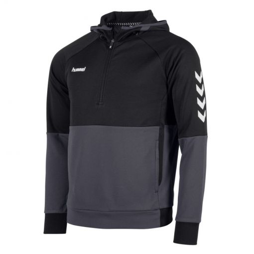 Hummel voetbaltrui Authentic Pro Hooded - 8900 Black-Anthracite