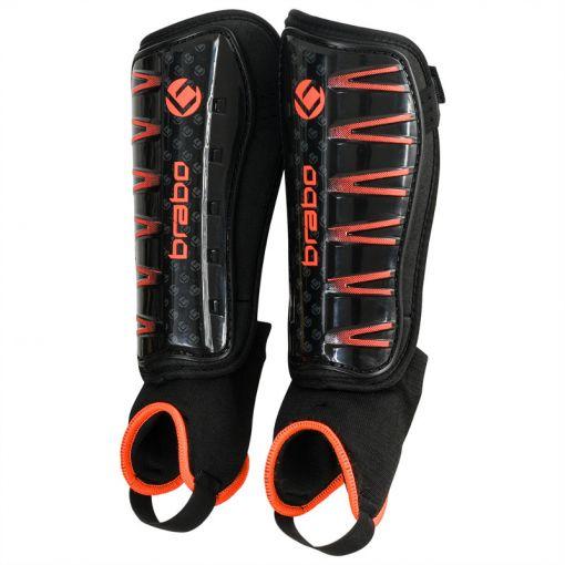 Brabo hockey scheenbeschermer F4 W/Anklesock - Zwart