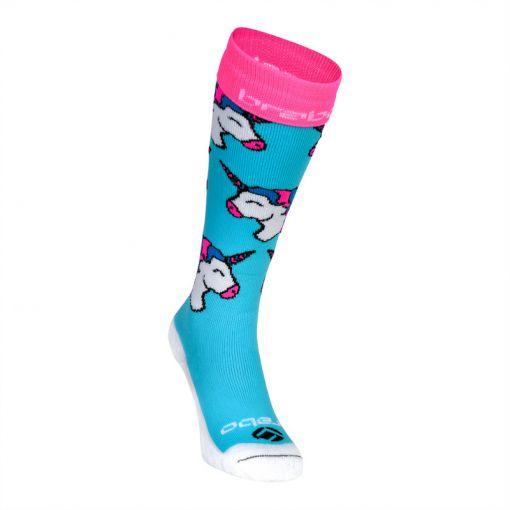 Brabo hockey sokken Unicorn - Licht blauw