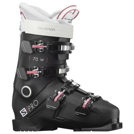 Salomon dames skischoen Boots S/Pro 70 W - Black/Pink/White