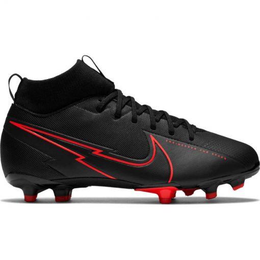 Nike junior voetbalschoen Superfly 7 Academy - 060 Black/Dk Smoke