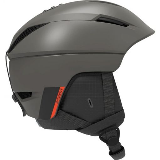 Salomon senior ski helm Pioneer - Beluga/Neon Red
