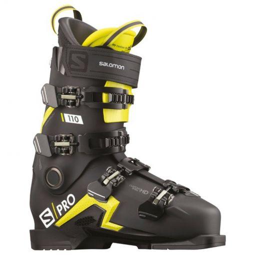 Salomon heren skischoen Boots S/Pro 110 - Black/Acid