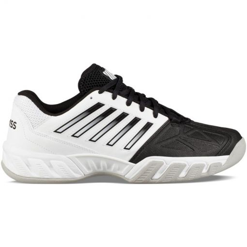 K-Swiss heren tennisschoen Bigshot Light 3 Carpet - STD White-Black-Gull-Gray
