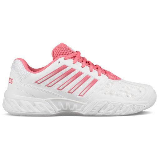 K-Swiss dames tennisschoen Bigshot Light 3 Carpet - STD White-Pink-Lemonade