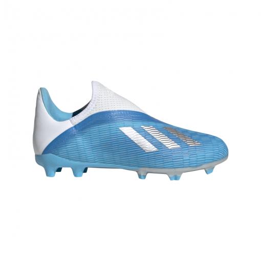 Adidas voetbalschoen X 19.3 Ll FG - Brcyan/Sil