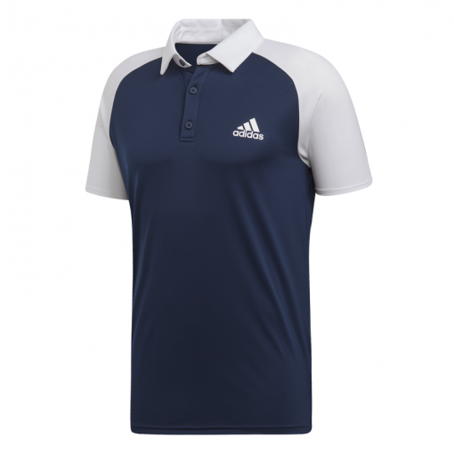 Adidas heren tennis polo Club c/b Polo - Blauw