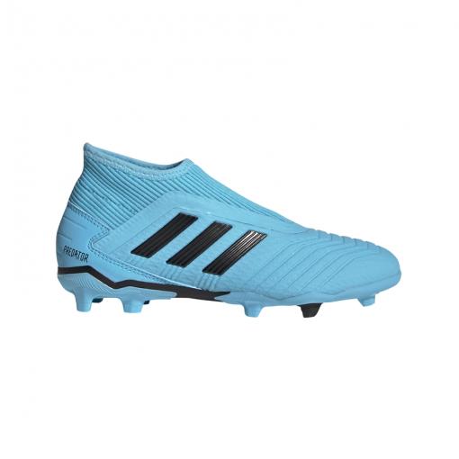 Adidas voetbalschoen Predator 19.3 LL FG Junior - BRCYAN/CBLACK/SYE BRCYAN/CBLAC