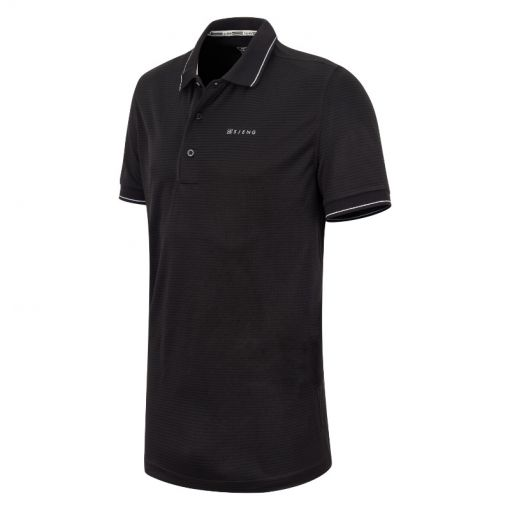 Sjeng Sports heren tennis polo Grand - Zwart