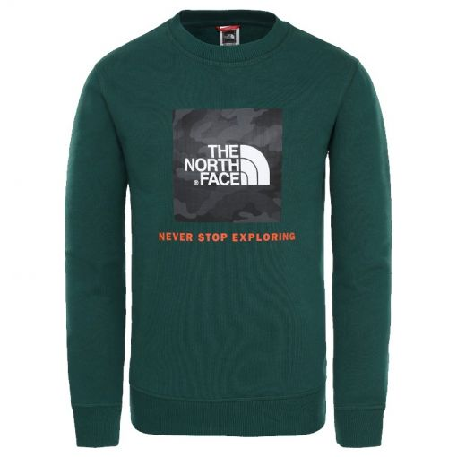 The North Face junior sweater Box Crew - N3P Green