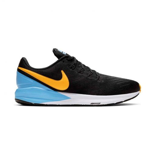 Nike heren hardloopschoen Air Zoom Structure - 011 Black/Laser Orange