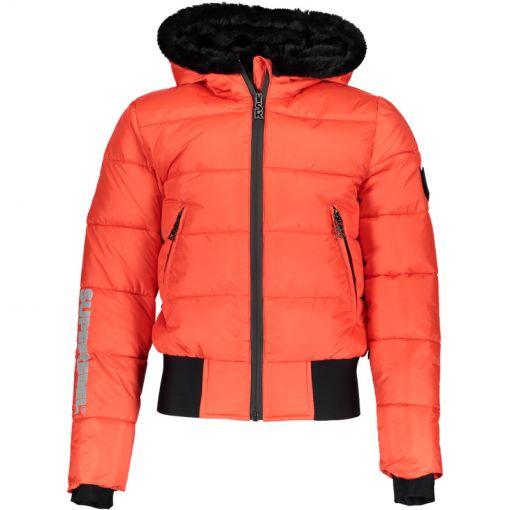 SuperRebel meisjes ski jas Basic Shiny - Rood