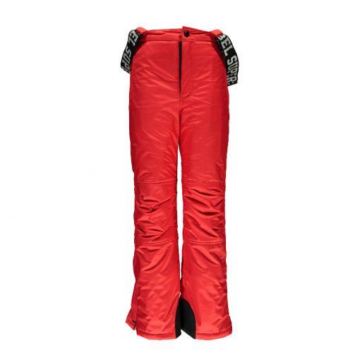 SuperRebel junior ski broek Plain - Rood