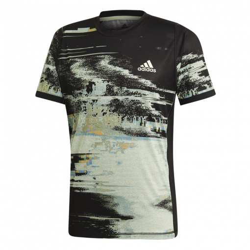 Adidas heren tennis shirt Ny Printed - Zwart