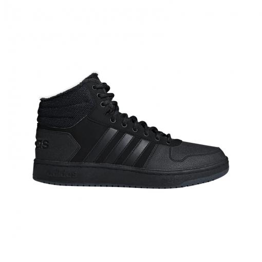 Adidas heren schoen Hoops 2.0 Mid - zwart