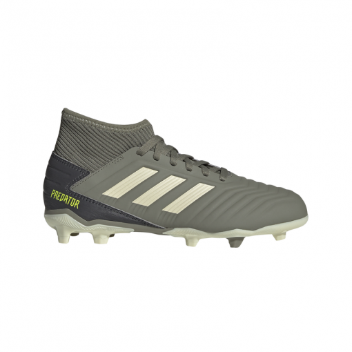 Adidas junior voetbalschoen Predator 19.3 FG - LEGGRN/SAND/SYELL LEGGRN/SAND/