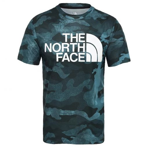 The North face heren t-shirt Flex II Big Logo S/S - STD PONDRSAGRNWXDCMPRT-WHT