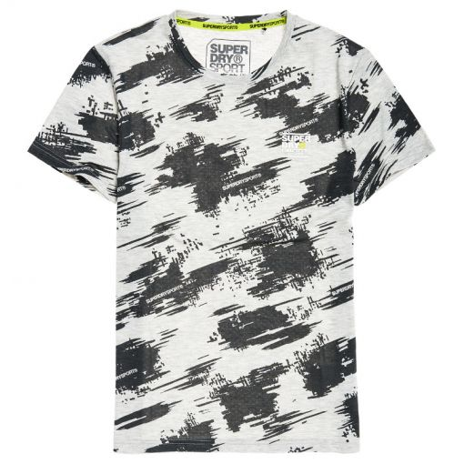 Superdry heren t-shirt Core Aop - Grijs