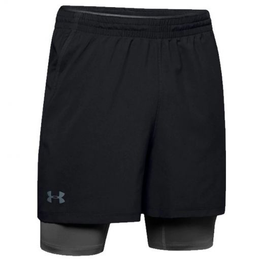 Under Armour heren short Qualifier 2-in-1 Short - Zwart