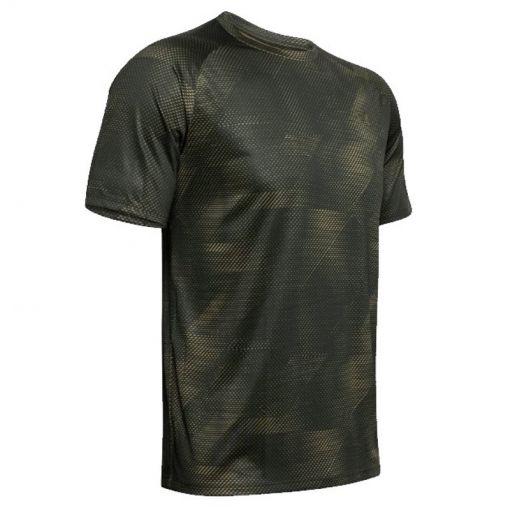 Under Armour heren shirt Tech 2.0 SS Printed - 310 Baroque Green