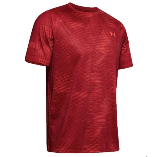Under Armour heren shirt Tech 2.0 SS Printed - 646 Martian Red