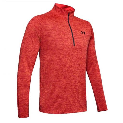 Under Armour heren t-shirt Tech 2.0 1/2 zip - 646 Martian Red