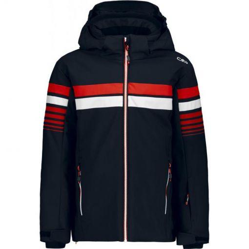 Boy Jacket Snaps Hood - N950 Blu Scuro