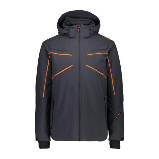 CMP heren ski jas Mid Zip Hood - U423 Antrhacite