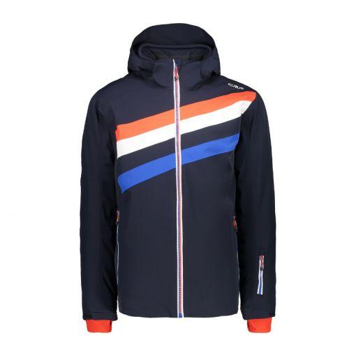 CMP heren ski jas Mid Zip Hood - N950 Blu Scuro