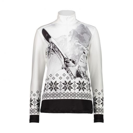 CMP dames ski pully Woman Sweat - 66ZD Bianco Nero