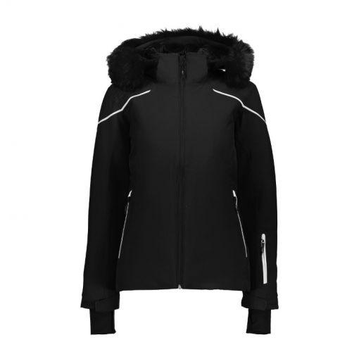 CMP dames ski jas Zip Hood - Zwart
