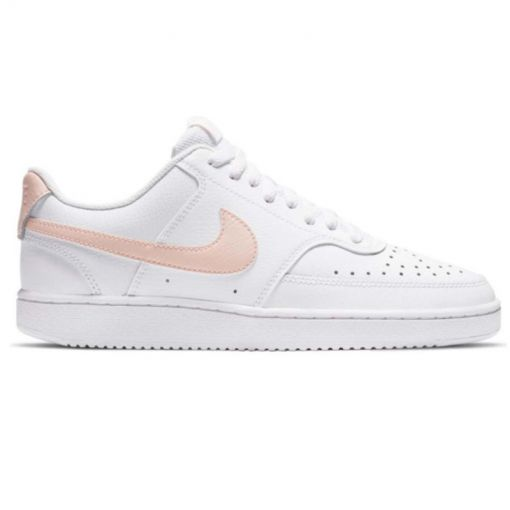 Nike dames casual schoen Court Vision Low - 105 White/Washed Coral