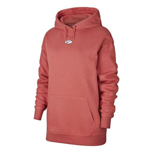 W NSW SWSH HOODIE OS BB - 897 LIGHT REDWOOD/WHITE