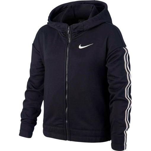 Nike meisjes vest Hoodie FZ Studio - Zwart