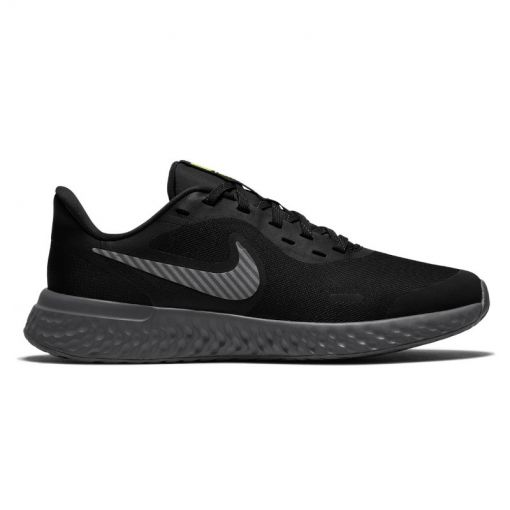 NIKE REVOLUTION 5 HZ (GS) - 001 BLACK/REFLECT SILVER-GUNSM