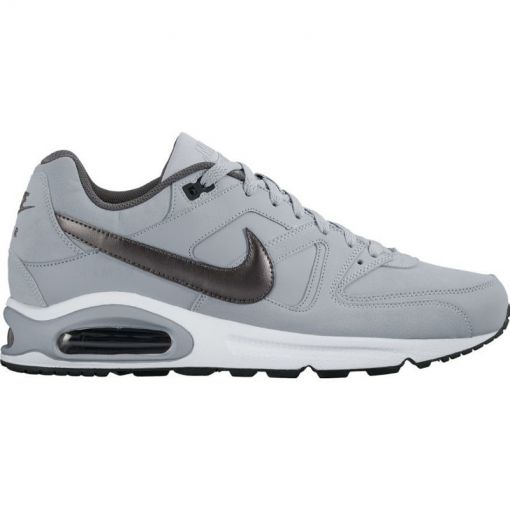 Nike heren schoen Air Max Command Leather - 012 WOLF GREY/MTLC DARK GREY-B
