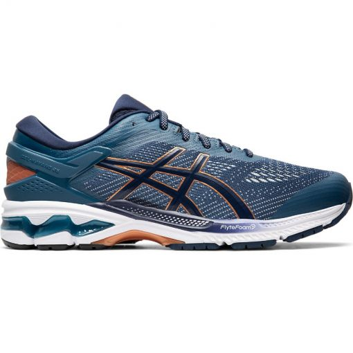 Asics heren hardloopschoen Gel-Kayano 26 - 401 GRAND SHARK/PEACOAT