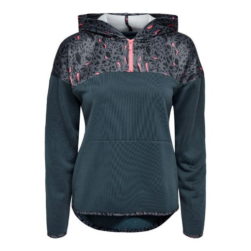 Only dames vest Mabelle Half zip Hood - 242776003 Turbulence/W. SP. PH