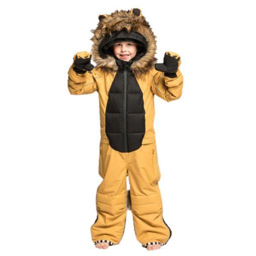WeeDo junior skipak Lion Snowsuit - Zwart