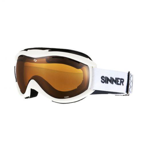 Sinner skibril Toxic - 30H MATTE WHITE