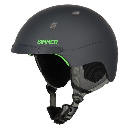 Sinner senior skihelm Titan - 20D MT.DK.GREY/NEON GREEN