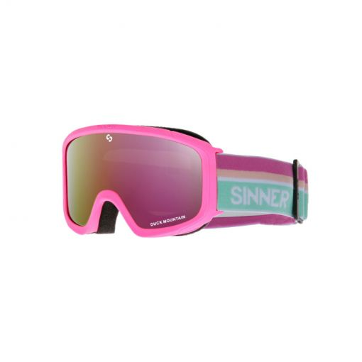 Sinner junior skibril Duck Mountain - 71 MATTE BUBBLEGUM PINK