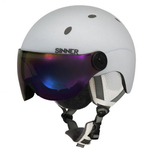 Sinner senior skihelm Titan Visor - wit