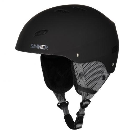 Sinner senior skihelm Bingham - Zwart