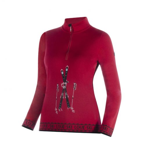 Newland dames pully T-Neck - Rood