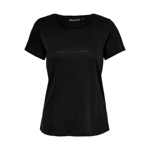 Only dames t-shirt Aeries Regular SS Tee - Zwart
