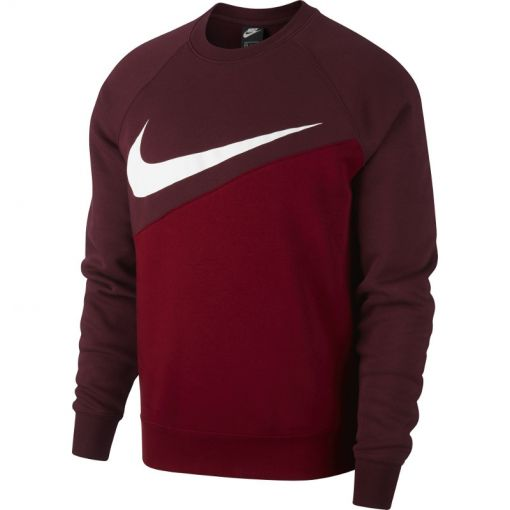 Nike heren trui Swoosh Crew BB - 677 TEAM RED/NIGHT MAROON/WHIT